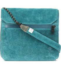 as2ov flat shoulder bag - blue