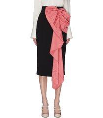 bow embellished pencil skirt