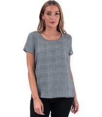 only womens first check print top size 12 in white