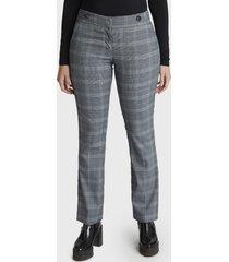 pantalón con aplicación de botones gris curvi