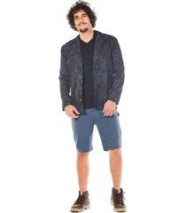blazer zinco com bolso azul marinho - azul marinho - masculino - dafiti