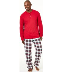 matching family pajamas men's big and tall mix it stewart plaid pajama set, created for macy's