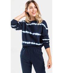 norie tie-dye sweatshirt - navy