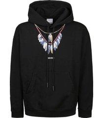 marcelo burlon sweatshirt double chain feathers over
