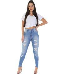 calça jeans sawary legging super lipo azul