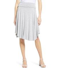 women's bobeau circle skirt, size xx-large - grey