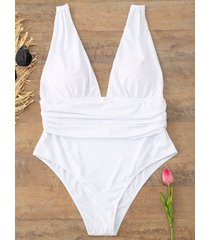plunge plus size swimsuit