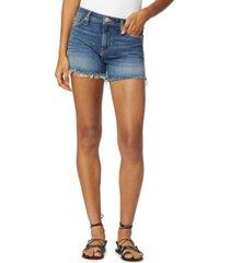 hudson jeans gemma mid-rise denim cut-off shorts