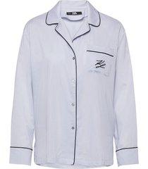 l/svl pyjama shirt top blå karl lagerfeld