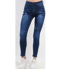 jeans pitillo azul marino night concept