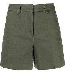 blanca vita thigh-length tailored shorts - green