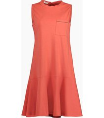 cotton stretch ruffle hem dress