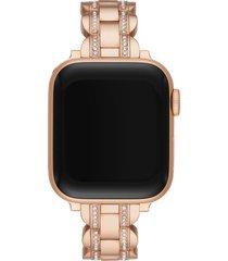 kate spade new york pave apple watch(r) bracelet in rose gold at nordstrom
