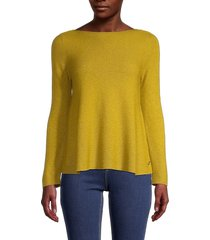 loro piana women's cashmere & silk a-line knit top - lilac - size 42 (8)