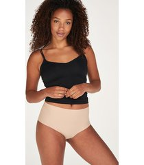 hunkemöller brazilian-trosa invisible high waist beige