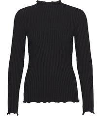 5x5 solid trutte t-shirts & tops long-sleeved zwart mads nørgaard