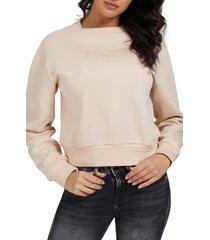 guess cornelia fleece sweatshirt, size large in g1g2-open at nordstrom