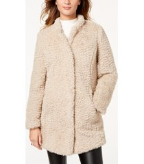 kenneth cole faux-fur coat