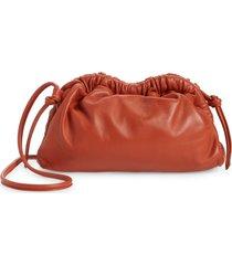 mansur gavriel mini cloud leather clutch - orange