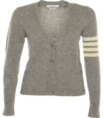 thom browne jersey stitch classic v-neck cardigan
