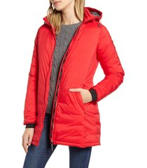 women's canada goose camp hooded down jacket, size x-small (2) - red