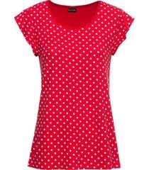 maglia in jersey a pois (rosso) - bodyflirt