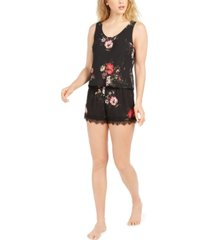 inc lace-back floral-print pajama set, created for macy's