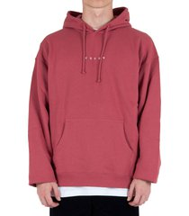 logo g fit hoodie - soft red