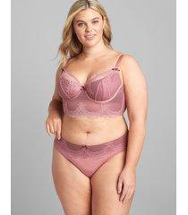 lane bryant women's lace hipster panty 26/28 mesa rose