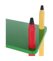 prateleira colorida em madeira e mdf 5016 carlu 24 peças - carlu