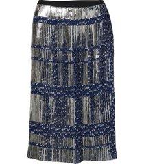 tassel knälång kjol blå munthe