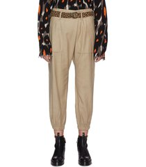 leopard belt utility pants