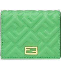 fendi small baguette bi-fold wallet - green