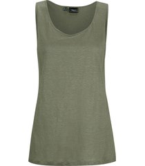 top ampio in lino (verde) - bpc bonprix collection