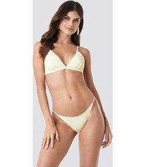 na-kd swimwear bikinitrosor med tunna band - yellow