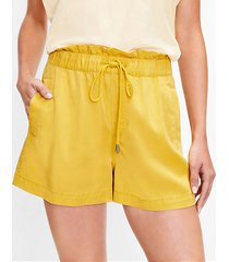 loft pull on shorts in soft twill