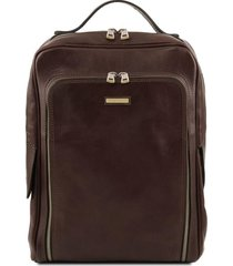 tuscany leather tl141793 bangkok - zaino porta notebook in pelle testa di moro