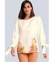 blouse alba moda offwhite::multicolor