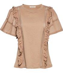 t-shirt t-shirts & tops short-sleeved roze sofie schnoor