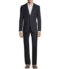 classic modern-fit wool blend suit