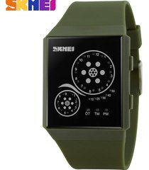 hombres y mujeres = reloj impermeable led-verde