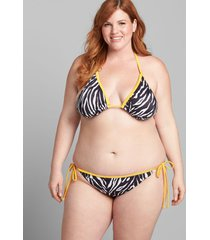 lane bryant women's no-wire swim string bikini top 24 zebra