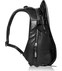côte & ciel designer men's bags, black leather isar m backpack