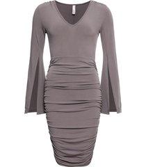 abito a tubino con maniche a campana (grigio) - bodyflirt boutique