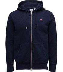 original hm zipup hoodie indig hoodie trui blauw levi´s men
