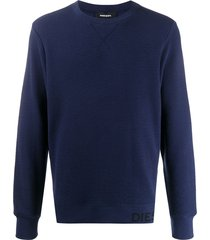 diesel waffle-knit sweatshirt - blue