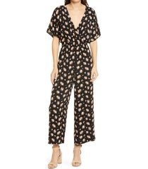 women's madewell homestead bouquet smocked waist jumpsuit