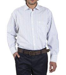 camisa algodón libre de arrugas azul rockford