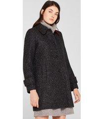 abrigo con efecto jaspeado gris esprit