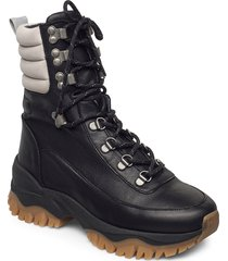 slfamal hiking boot b shoes boots ankle boots ankle boot - flat svart selected femme